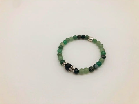 Green Aventurine Wealth, Health & Prosperity Small Bead Simply Crystal Aroma Healing Bracelet