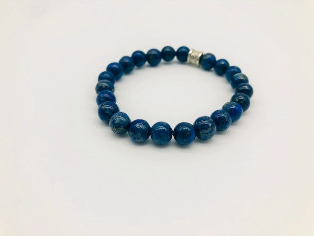Lapis Lazuli Positivty & Happiness Large Bead Simply Crystal Bracelet