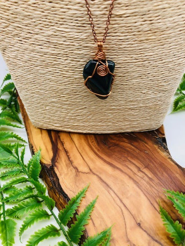 Bloodstone & Copper Immune Boosting Pendant