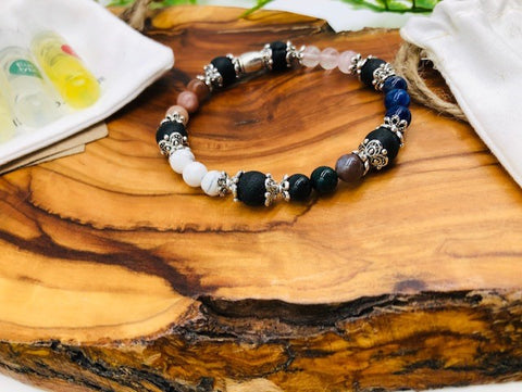 Physical, Emotional & Spiritual Wellness Aroma Crystal Bracelet