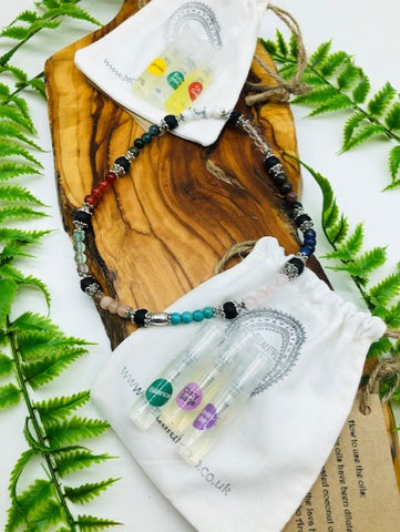 Physical, Emotional & Spiritual Wellness Aroma Crystal Necklace
