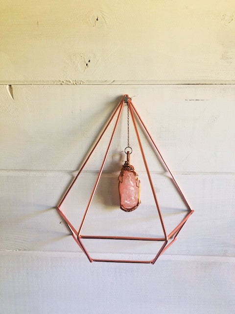 Positivity & Happiness Rose Quartz The stone of Unconditional Love Wall Hanging