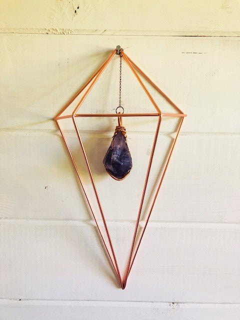Creativity & Spiritual Awareness Amethyst Crystal Wall Hanging