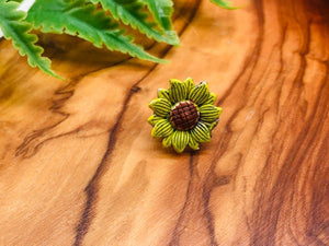 Sunflower Pin Brooch