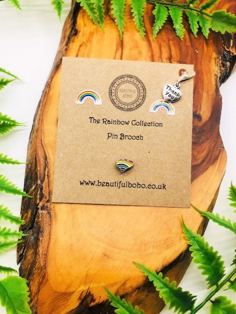 Rainbow Pin Brooch