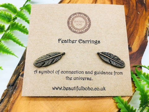 Feather Stud Earrings