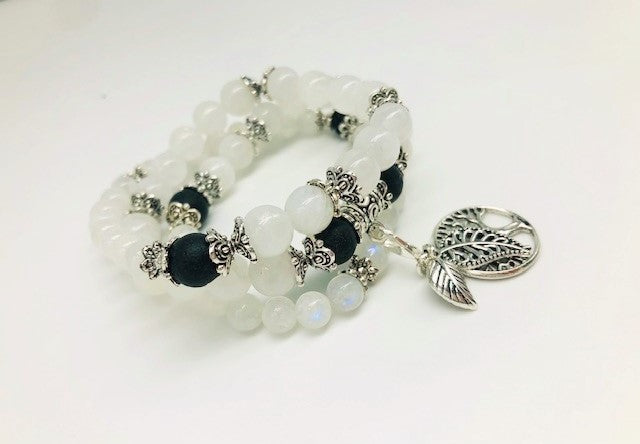 White Moonstone Calming & Balancing Aroma Jewellery
