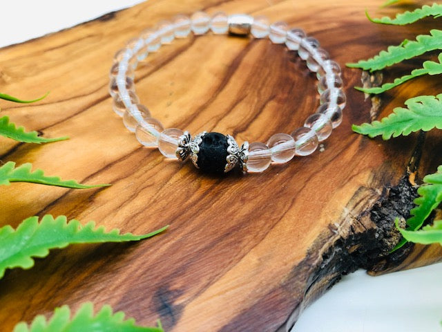 Clear Quartz Simply Crystal Scented Bracelet for Physical & Emotional wellness