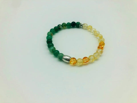 Wealth luck & prosperity simply crystal small bead bracelet