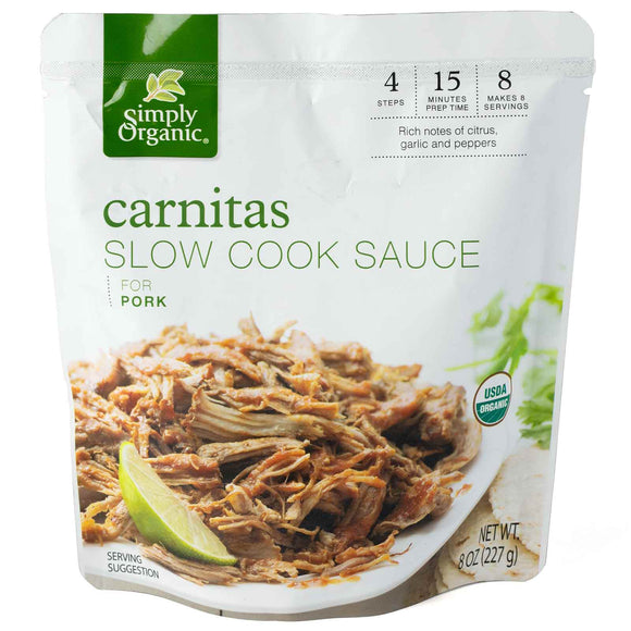 SIMPLY ORGANIC CARNITAS SLOW COOK SAUCE 8.00 FL. OZ.