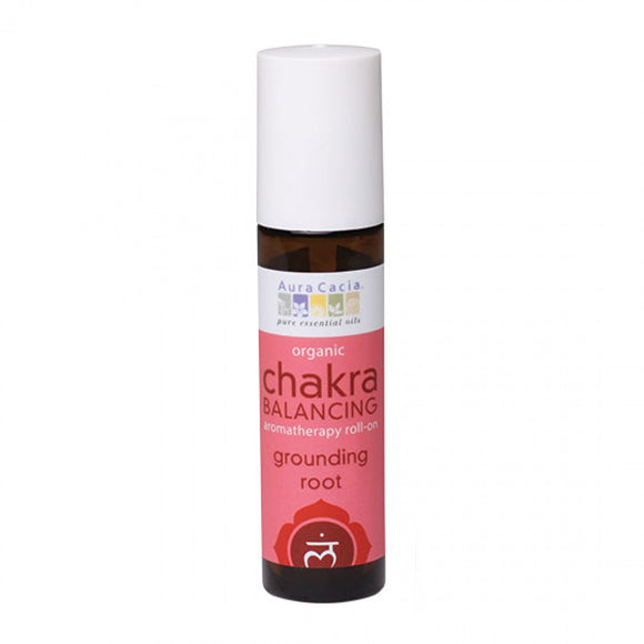 Organic Grounding Root Chakra Balancing Roll On Aura Cacia 0.31 fl. oz.