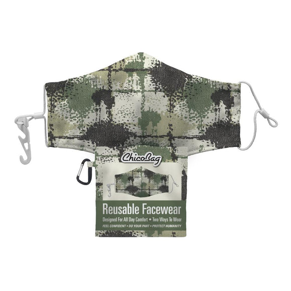 Camo Splatter Reusable Face Wear by Chicobags