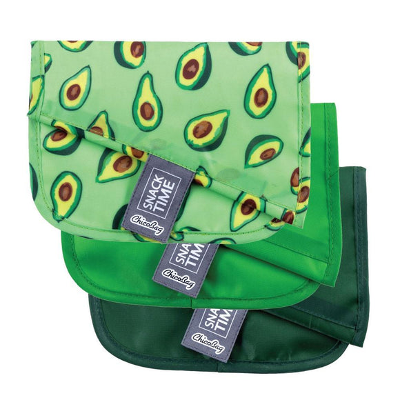 Avocado Print Reusable Snack Bag by Chicobags!