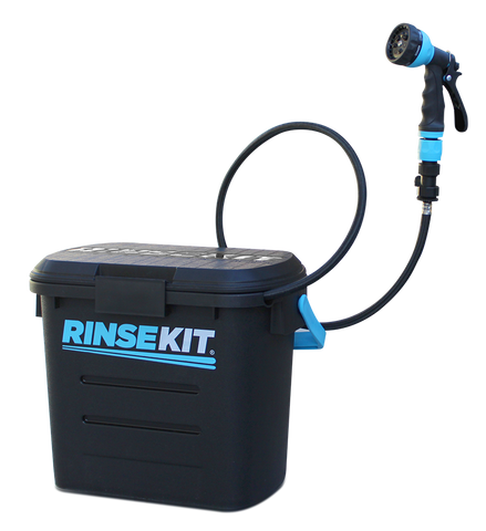 RinseKit - Portable, Pressurized Shower.