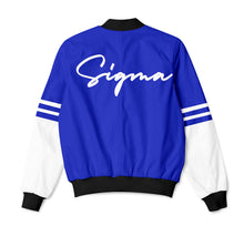 Load image into Gallery viewer, Phi Beta Sigma Stripe Bomber Jacket