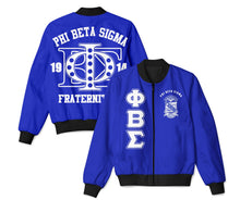 Load image into Gallery viewer, Phi Beta Sigma Letter Bomber Jacket