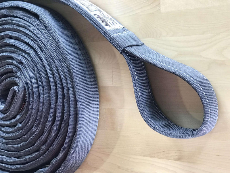 30 Foot Tow Strap Extreme Duty 30 Foot x 2 Inch Gray Factor 55