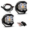 LP4 Pro LED Driving/Combo Clear Lens Pair Baja Designs ( 297803-FGXX )