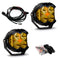 LP4 Pro LED Driving/Combo Amber Lens Pair Baja Designs ( 297813-FGXX )