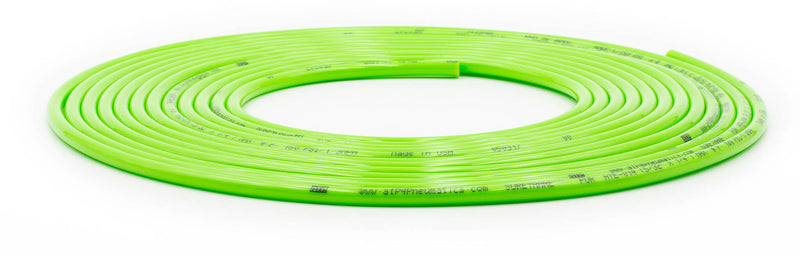 Tire Inflator Hose Replacement 240 Inch W/O Chucks Green UP Down Air ( 340-1400-GRN )