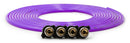 Tire Inflator Hose Replacement 240 Inch W/4 Quick Release Chucks Purple UP Down Air ( 340-4100-PUR )
