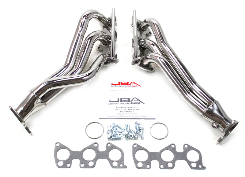 "JBA Performance Exhaust 36035S-2 1 5/8"" Header Long Tube ""304 Series"" Stainless Steel 12-15 Tacoma, 11-14 Tundra 4.0L w/ Air Injection"