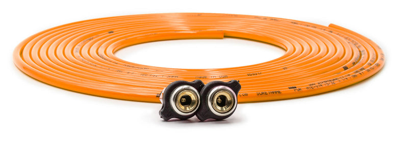 Tire Inflator Hose Replacement 288 Inch W/2 Quick Release Chucks Orange UP Down Air ( 388-2100-ORG )