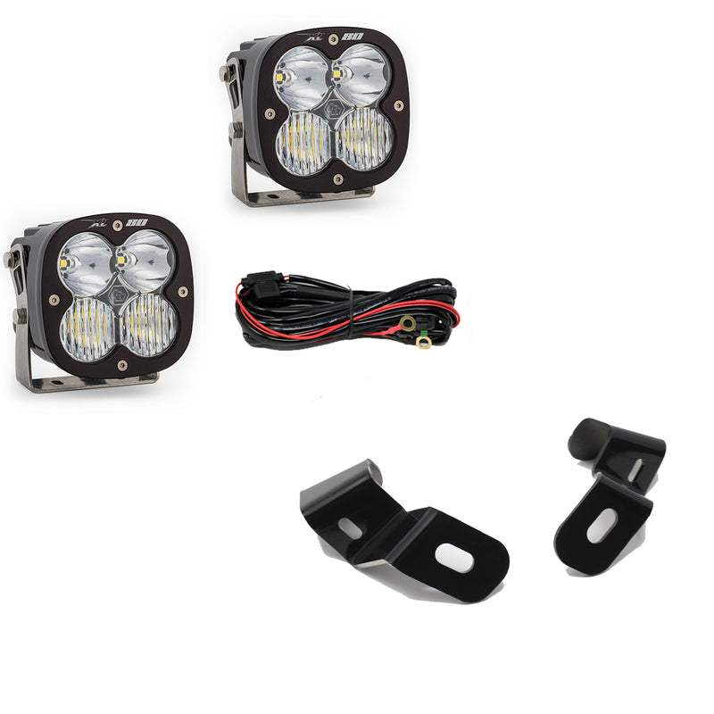 Dodge Ram LED Light Pods For Ram 2500/3500 19-On A-Pillar Kits XL 80 Driving Combo Baja Designs ( 448041-FGXX )