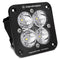 Flush Mount LED Spot Clear Black Squadron Sport Baja Designs ( 551001-FGXX )