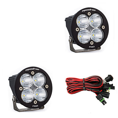 LED Light Pods Clear Lens Work/Scene Pair Squadron R Pro Baja Designs ( 597806-FGXX )