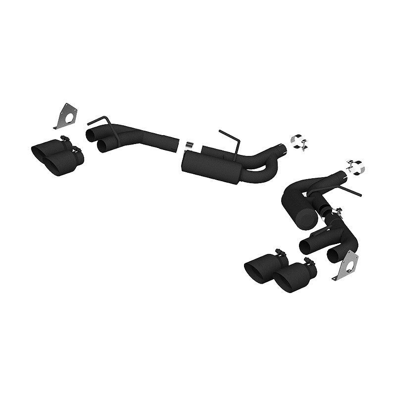 Exhaust Pipe 2.5 Inch Dual Axle Back NPP For 16-20 Camaro V6 3.6L With Quad 4 Inch Dual Wall Tips Black Coated MBRP ( S7039BLK )