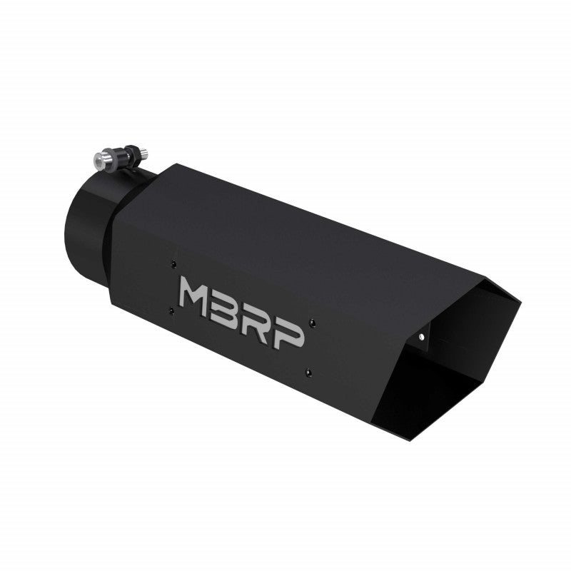 Universal 5 Inch Hexagon Shaped W/Back Plate Black Series Exhaust Tip MBRP ( T5164BLK )