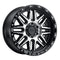 BLACK RHINO ALAMO 17x9.0 5/127 ET-18 CB71.6 GLOSS BLACK W/MACHINED FACE AND STAINLESS BOLTS