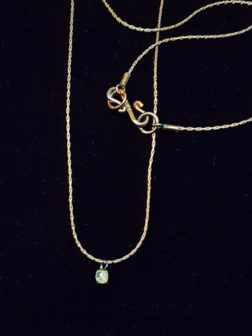 MINI-NECKLET Tiny Diamond Drop
