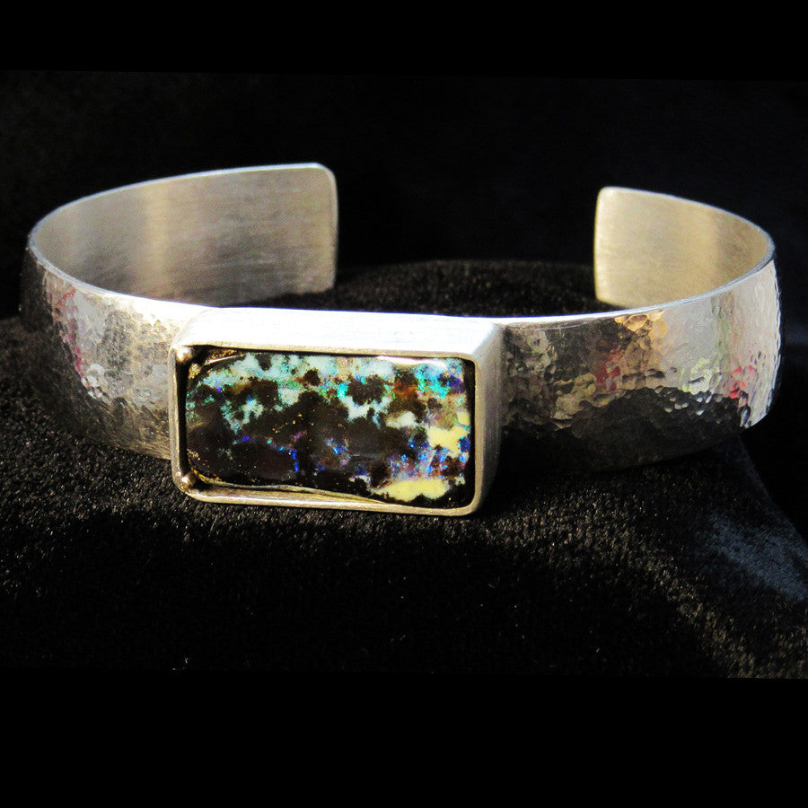 CUFF BRACELET WITH ACCENT STONE: CUSTOM PIECE
