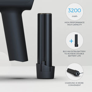Massage gun with removeable battery