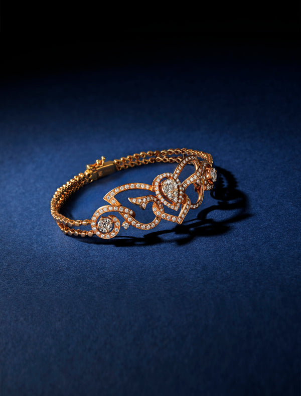 Bespoke Rose Gold Diamond Butterfly Bracelet | Kitney London Bespoke