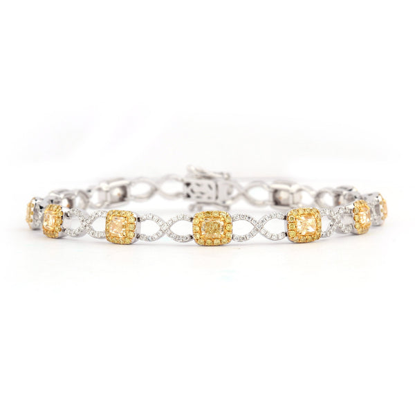 Oriana Yellow Diamond Bracelet