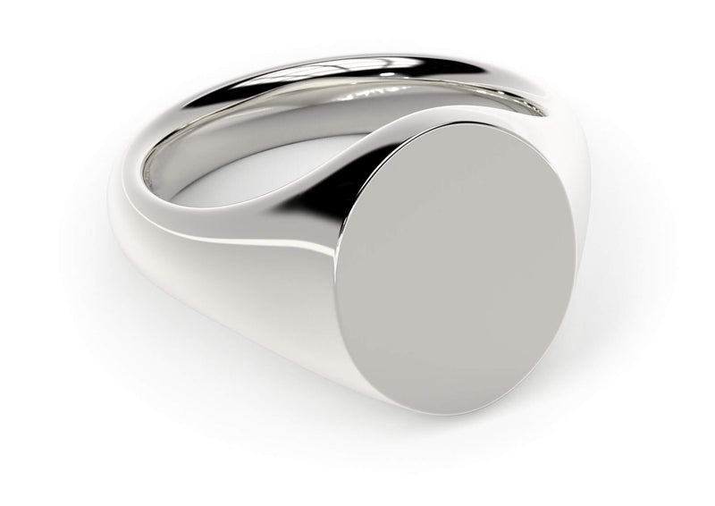 Design your personalised signet ring. Hand-seal engraved family crest, coat of arms. 18k white gold