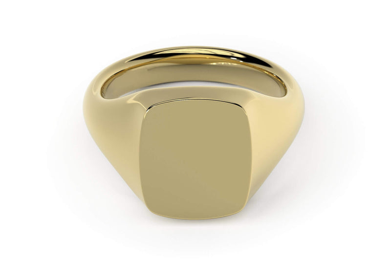 Personalised Signet Ring. Made in Britain. World-class craftsmanship. 18k gold. Kitney London