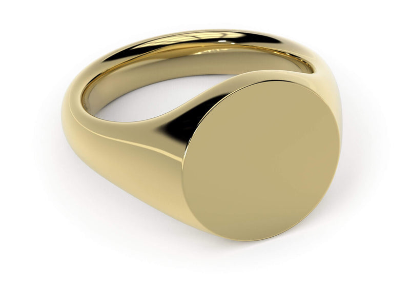Design your personalised signet ring. Hand-seal engraved family crest. Yellow gold. Kitney London