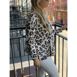 Brown Leopard Print Top
