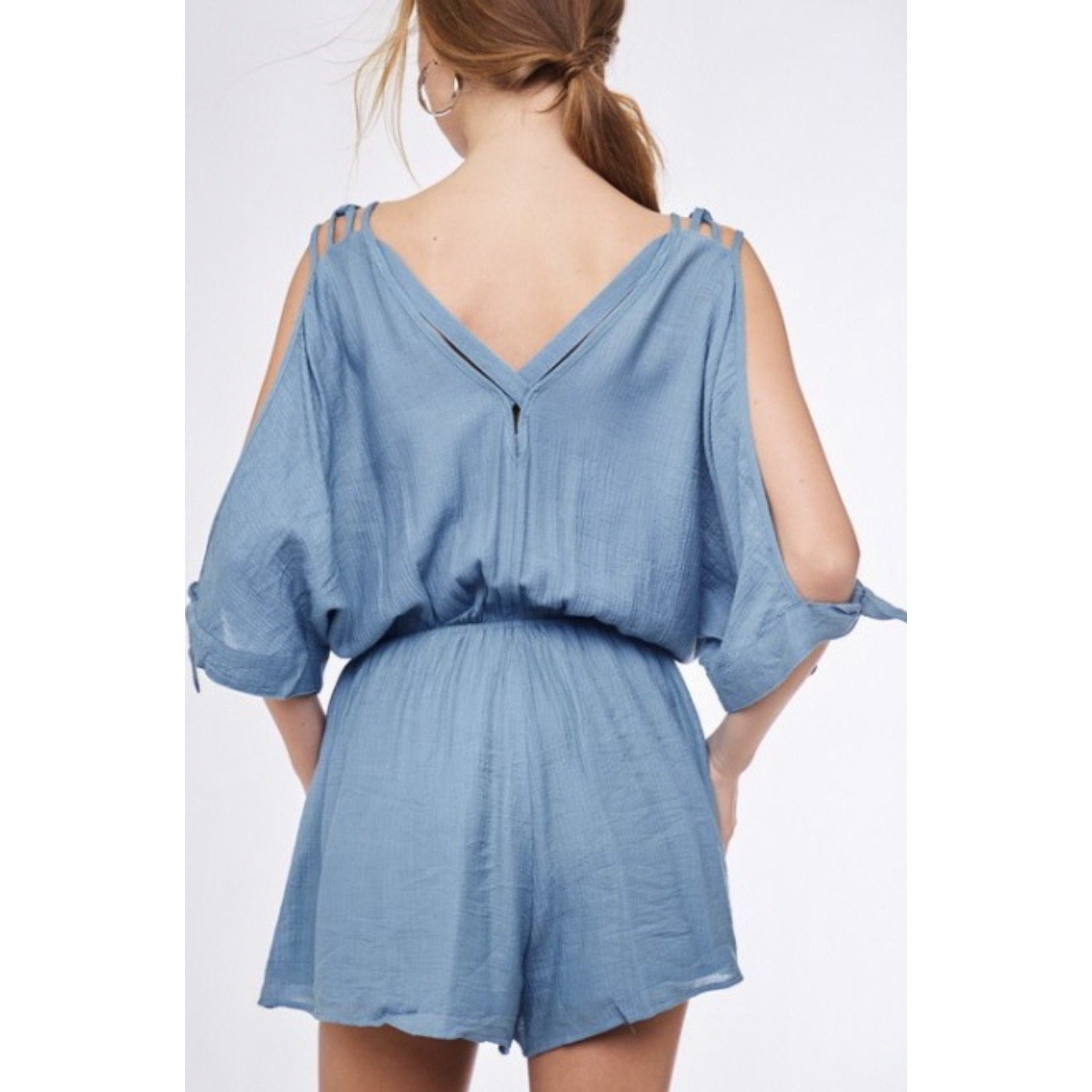 Cold Shoulder Strappy Romper