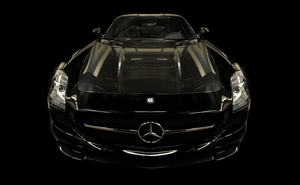 Scrape Armor Bumper Protection - Mercedes-Benz SLS Black Series Coupe 2013-2014