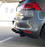 VW MK7 GTI Extended Diffuser Fins