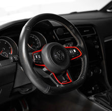 Load image into Gallery viewer, VW MQB Steering Wheel Cowl Accent (round airbag)