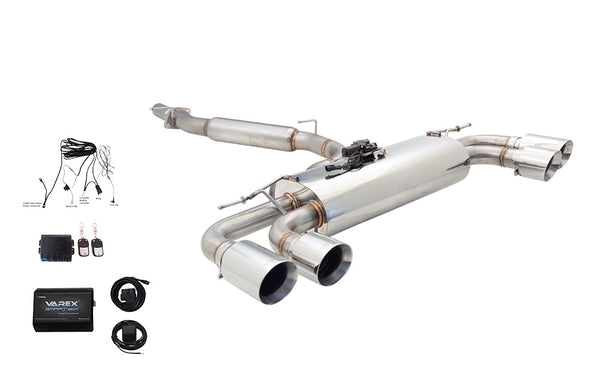 Audi S3 Sedan 3'' Brushed Stainless Steel Cat-Back System with Varex Muffler and Smartbox Controller