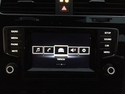 MK7 Headunit Power Button Blackout