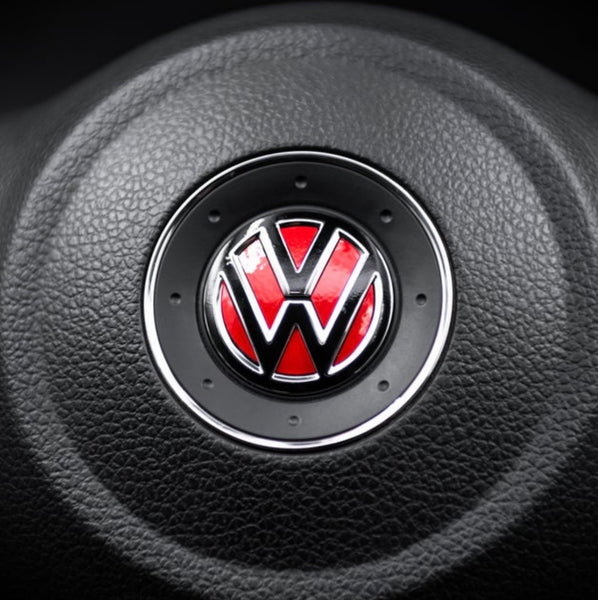 VW MK6 Steering Wheel Logo Inlay