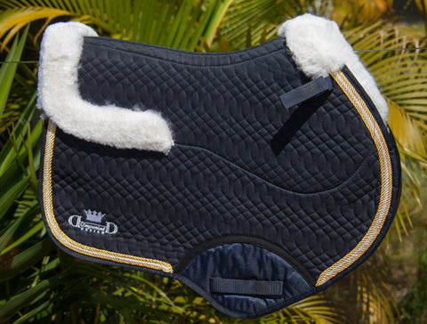 Navy Deluxe Jumping Pad with Sheepskin